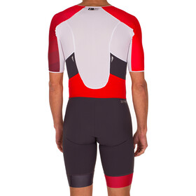 Z3R0D Racer Time Trial Strój triathlonowy Mężczyźni, grey/red